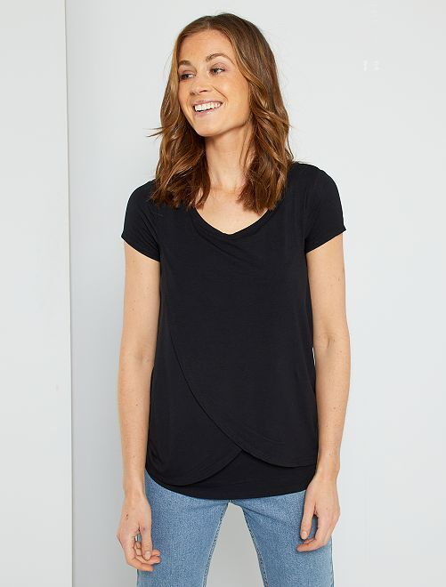 T-shirt pour allaitement                                         noir