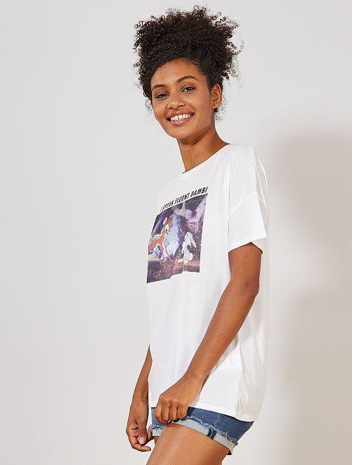 T-shirt print 'Bambi'                                         blanc