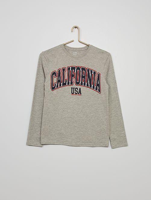 T-shirt print 'California'                                         GRIS