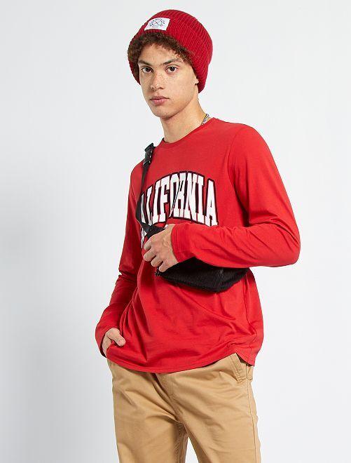T-shirt print 'California'                                         rouge