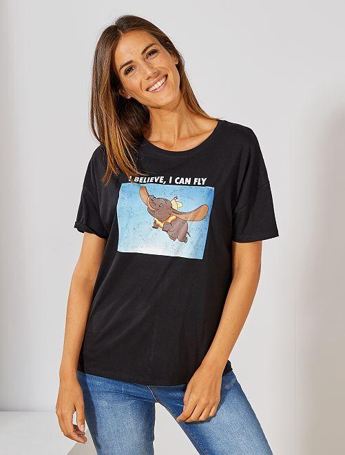 T-shirt print 'Dumbo'                                         noir