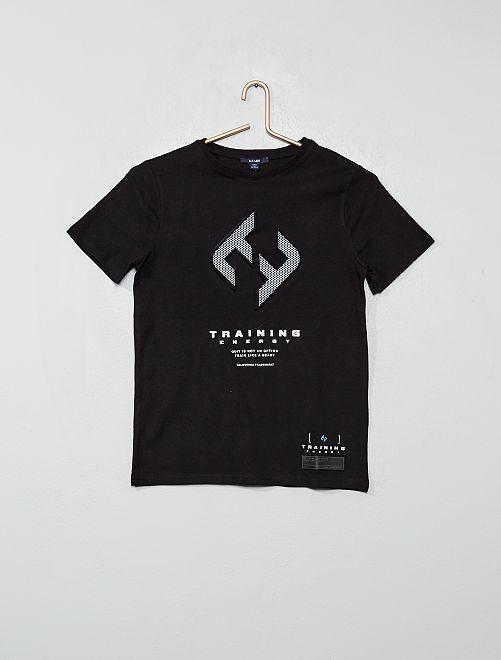 T-shirt print embossé                                         noir