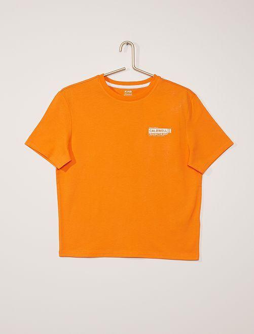 T-shirt print relief                                                     ORANGE