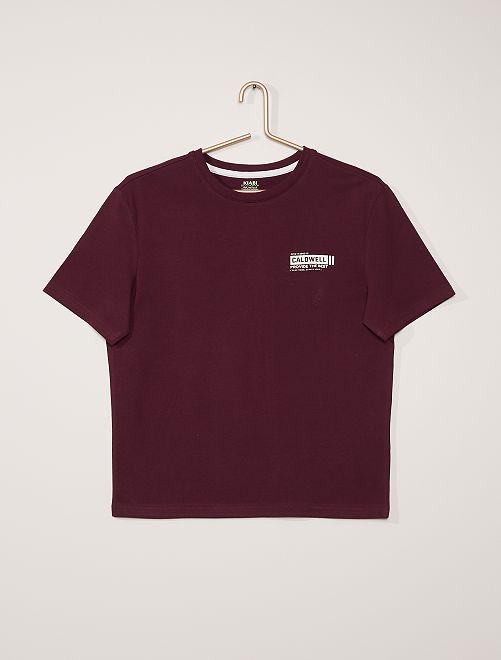T-shirt print relief                                                     violet