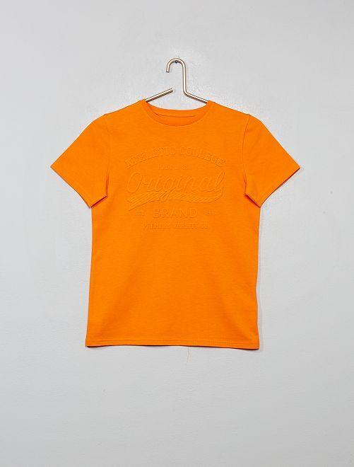 T-shirt print reliefé                                                                 orange