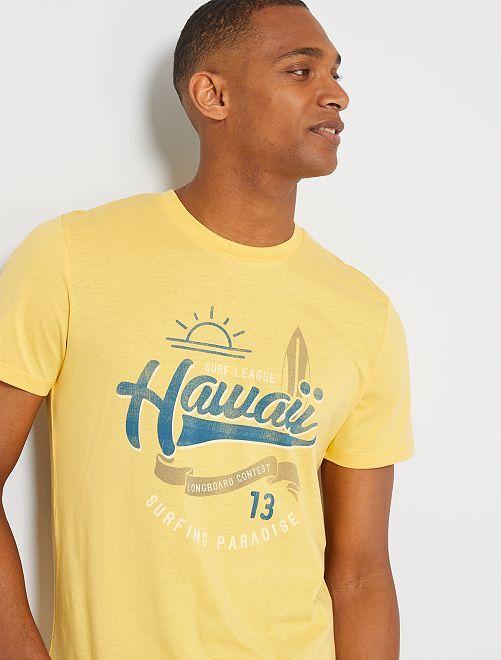 T-shirt 'Produkt' éco-conçu                                                     jaune