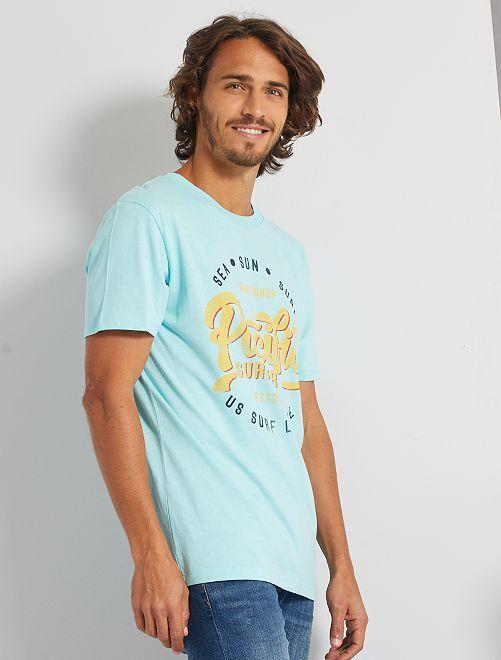 T-shirt 'Produkt' éco-conçu                                                     turquoise pâle