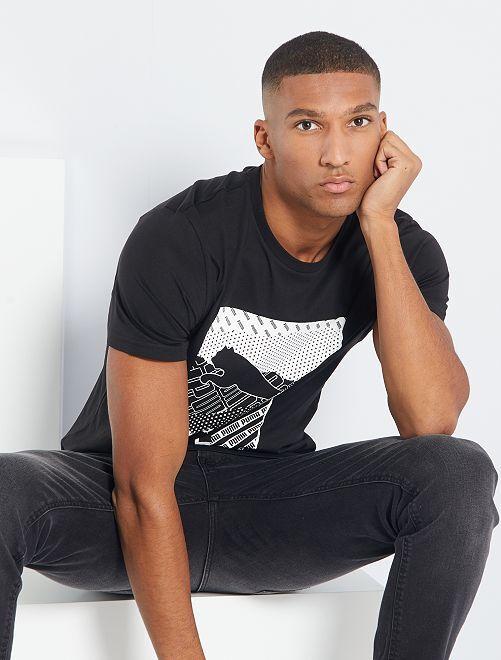 T-shirt 'Puma'                             noir