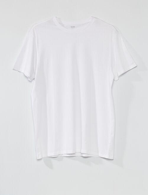 T-shirt pur coton +1m90                                                                     blanc