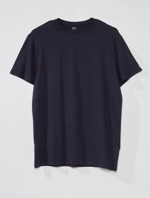 T-shirt pur coton +1m90                                                                             bleu marine