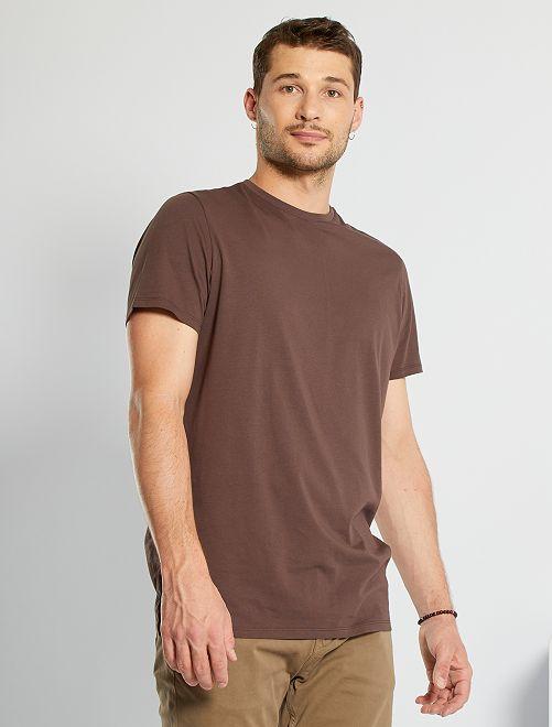 T-shirt pur coton +1m90                                                                             marron foncé