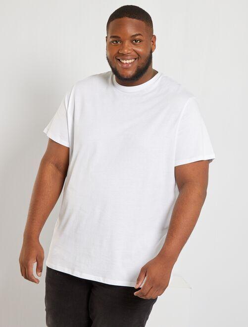 T-shirt pur coton                                                                                                                                                                             blanc