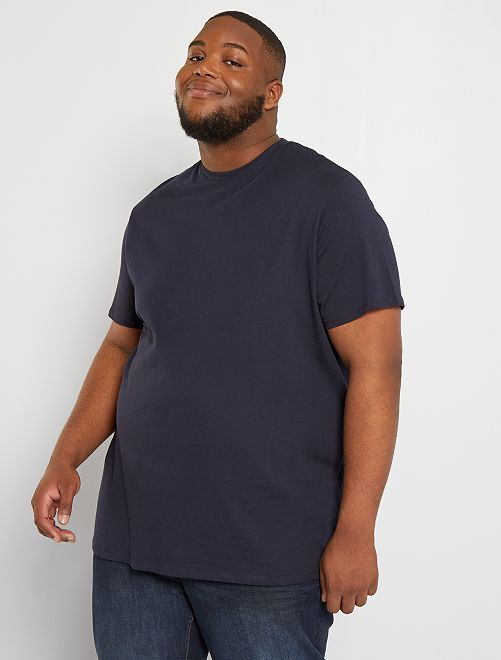 T-shirt pur coton                                                                                                                                                                             bleu marine
