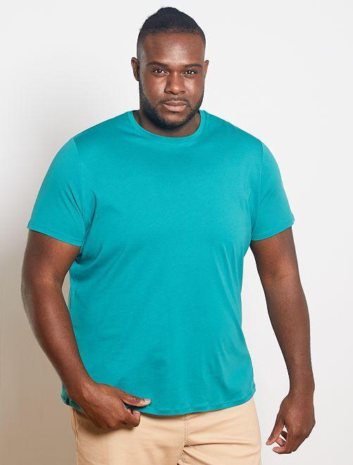T-shirt pur coton éco-conçu                                                                                                                                                                                         vert bleu