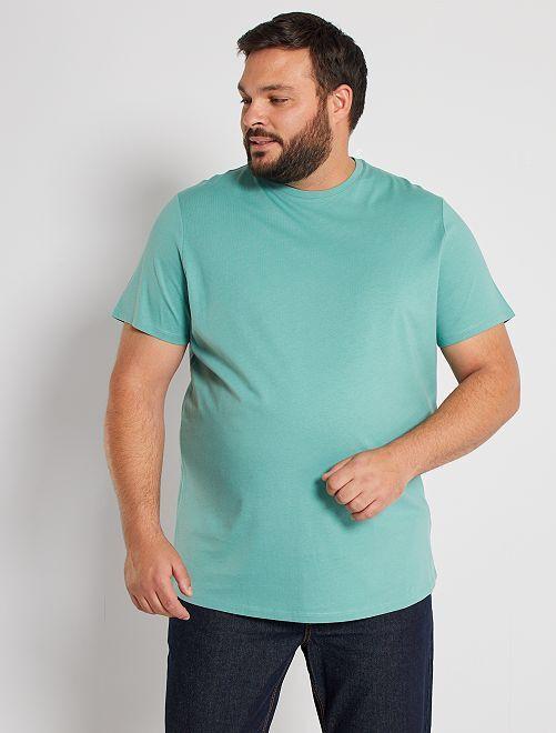 T-shirt pur coton éco-conçu                                                                                                                                                     vert pâle