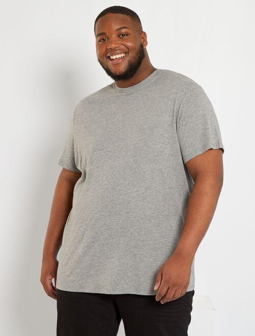 T-shirt pur coton                                                                                                                                                                                 gris chiné