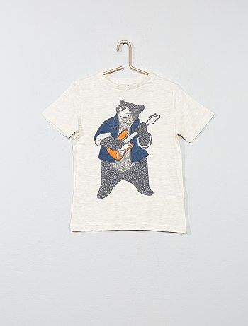 Garçon 3-12 ans - T-shirt pur coton imprimé - Kiabi