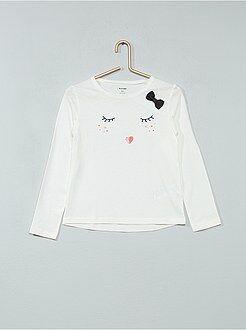 Fille 3-12 ans T-shirt pur coton imprimé