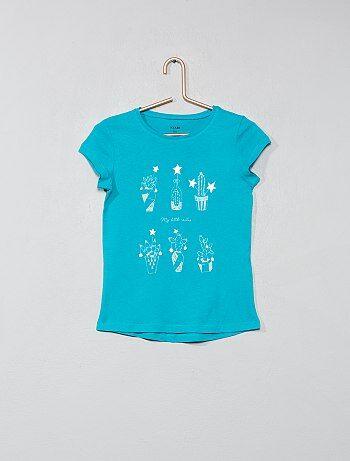 T shirt pur coton imprimé