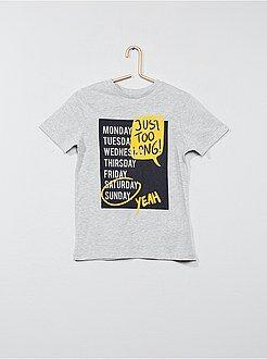 Tee shirt, polo - T-shirt pur coton imprimé - Kiabi