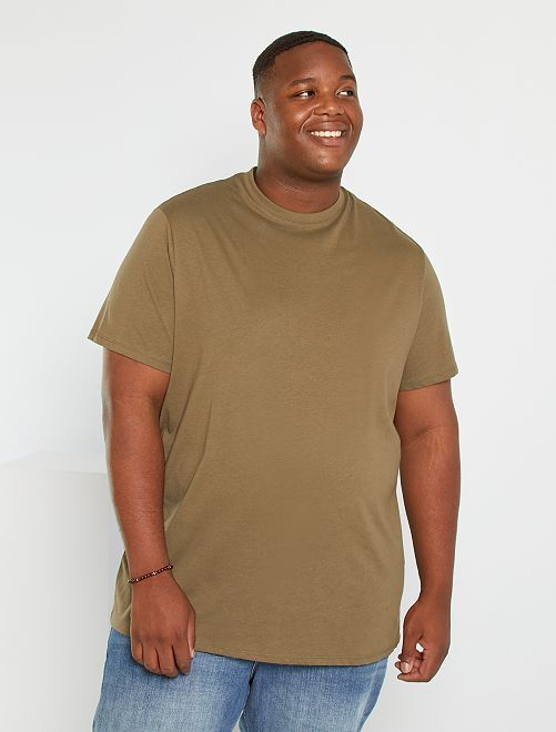 T-shirt pur coton                                                                                                                                                                             kaki