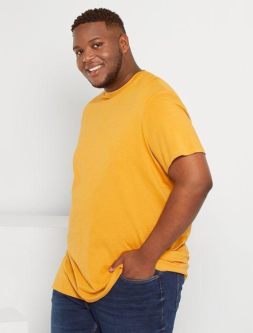 T-shirt pur coton                                                                                                                                                                                         ocre