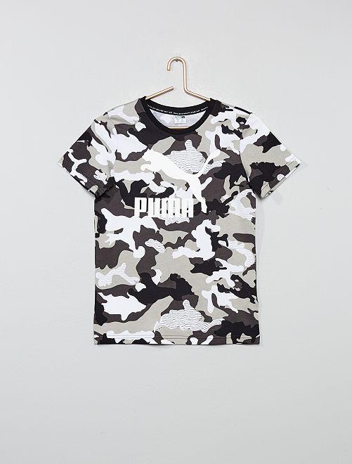 T-shirt pur coton 'Puma'                             kaki