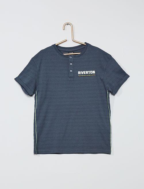 T-shirt pur coton 'riverton'                                         gris
