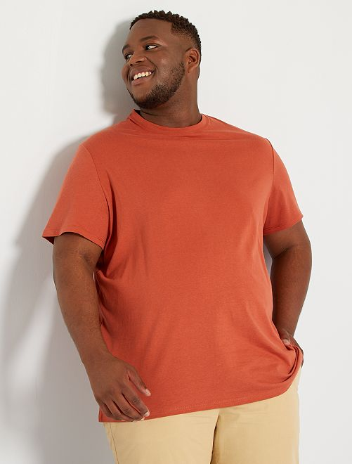 T-shirt pur coton                                                                                                                                                                             rouge brique