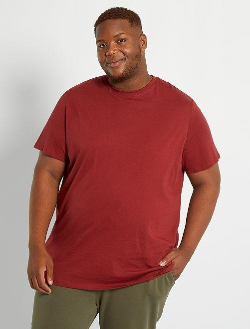 T-shirt pur coton                                                                                                                                                                             rouge foncé