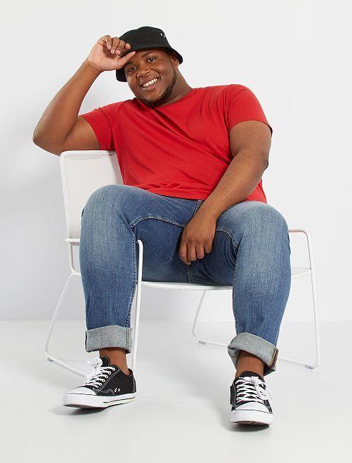 T-shirt pur coton                                                                                                                                                                                                     rouge