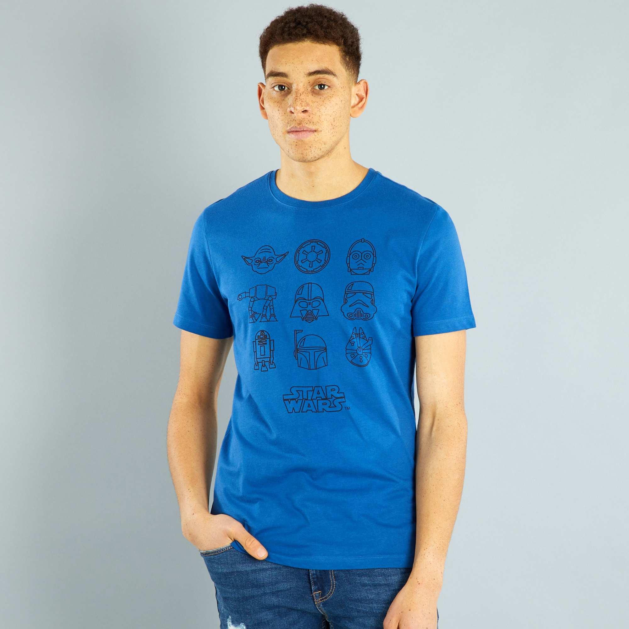 Couleur : bleu, , ,, - Taille : L, S, M,,Graphisme minimaliste tendance pour l'imprimé de ce tee-shirt 'Star Wars'. -