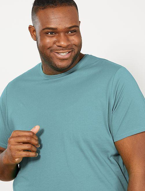 T-shirt pur coton                                                                                                                                                                                         vert de gris