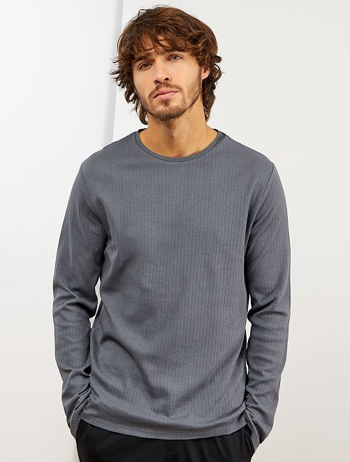 T-shirt pyjama manches longues                                                     gris