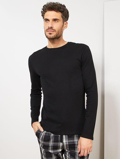 T-shirt pyjama manches longues                                                     noir