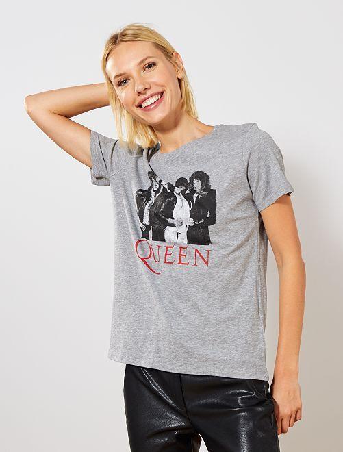 T-shirt 'Queen'                             gris
