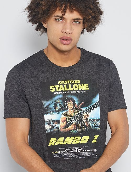 T-shirt 'Rambo'                             anthracite chiné