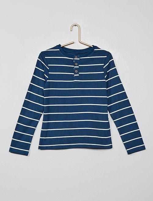 T-shirt rayé 'éco-conception'                                                                 bleu