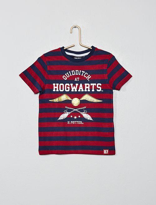 T-shirt rayé 'Harry Potter'                             bordeaux