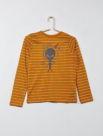 T-shirt rayé imprimé - Kiabi