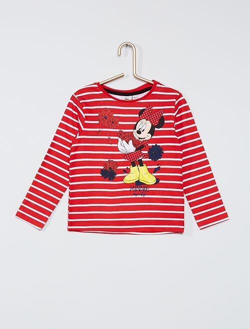 T-shirt rayé 'Minnie'                                         rouge