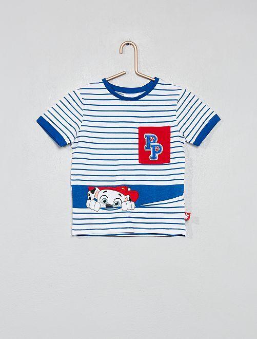 T-shirt rayé 'Pat' Patrouille'                             bleu Garçon