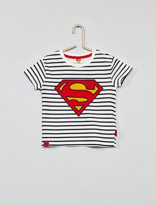 T-shirt rayé 'Superman'                             rayé Bébé garçon