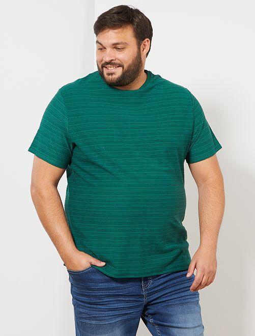 T-shirt rayures jacquard                                                     vert