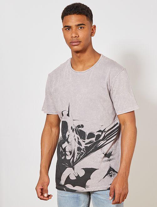 T-shirt regular 'Batman'                                         gris mauve Homme