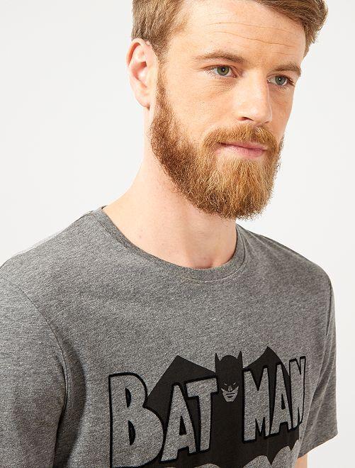 T-shirt regular 'Batman' vintage                             gris chiné Homme