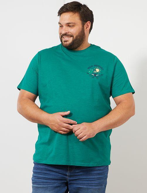 T-shirt regular brodé                                         vert