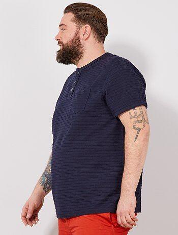 T-shirt regular col tunisien
