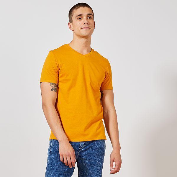 t shirt homme jaune
