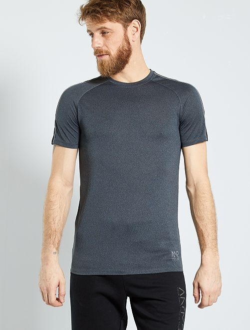 T-shirt regular en microfibre                                         noir